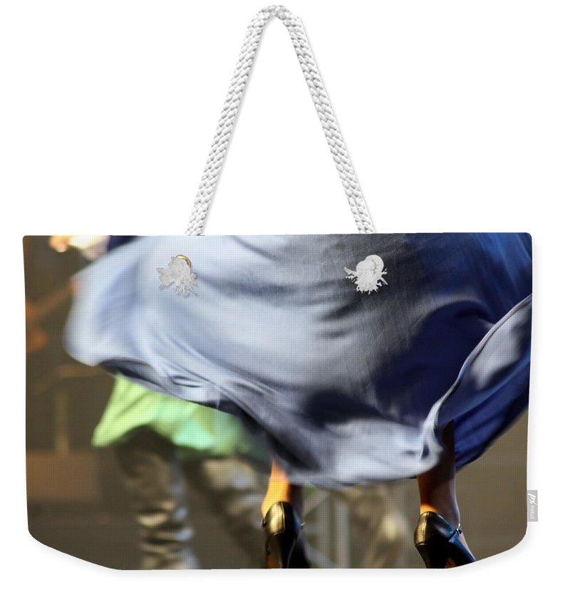 Skirt Weekender Tote Bag featuring the photograph Swishhhhhhhhh by Jo Hoden