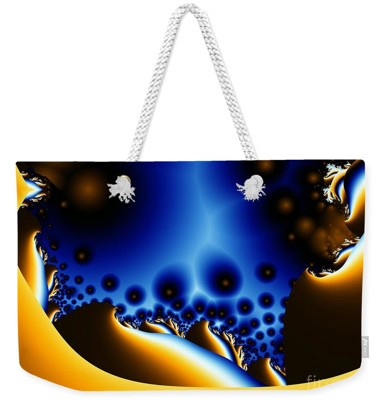 Fractal Art Weekender Tote Bag featuring the digital art Swiss Lightning by Ron Bissett
