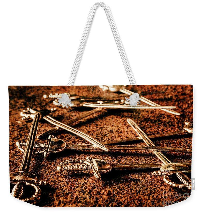 Sword Weekender Tote Bag featuring the photograph Swords And Knight Fights by Jorgo Photography - Wall Art Gallery