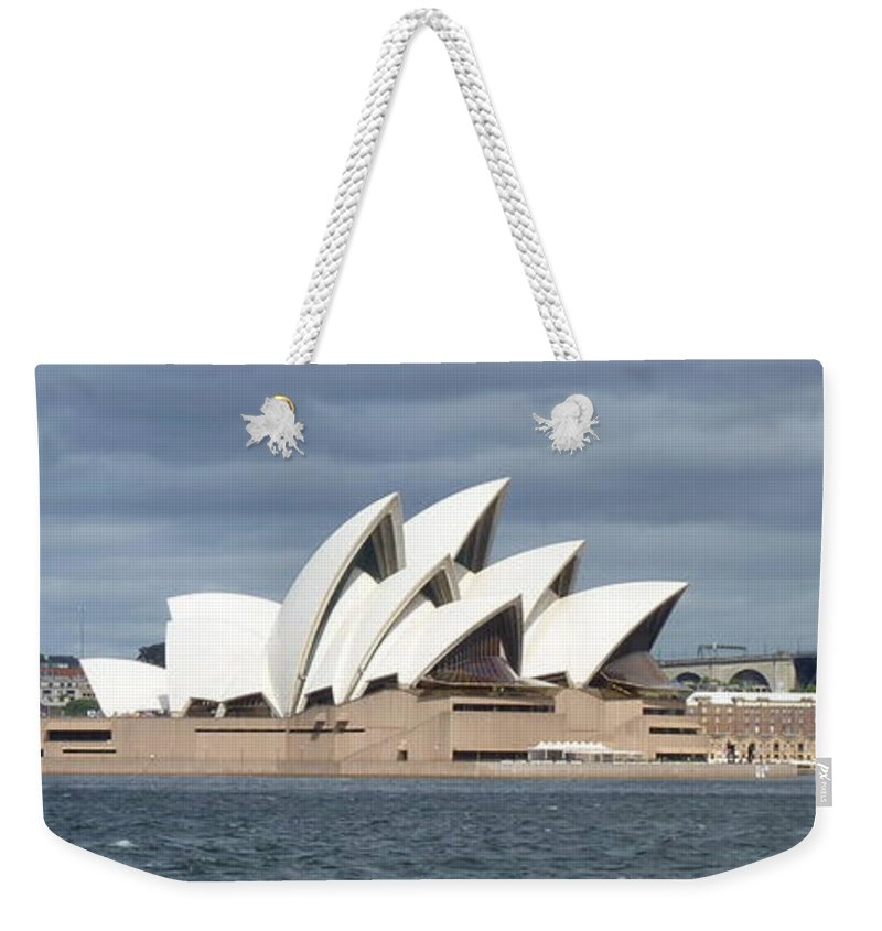 Sydney Opera House Weekender Tote Bag featuring the photograph Sydney Opera House Panorama by Carla Parris