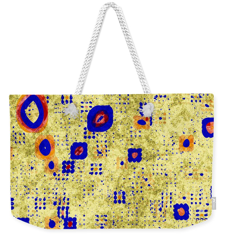 Fractal Weekender Tote Bag featuring the digital art Symbols On A Wall by Richard Ortolano