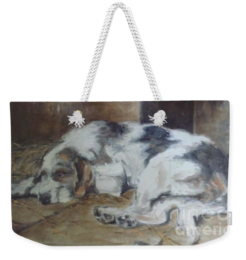 Realistic Weekender Tote Bag featuring the painting Sympothy 2 by Rushan Ruzaick