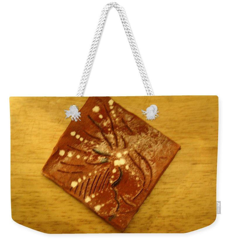 Jesus Weekender Tote Bag featuring the ceramic art Symptom - Tile by Gloria Ssali