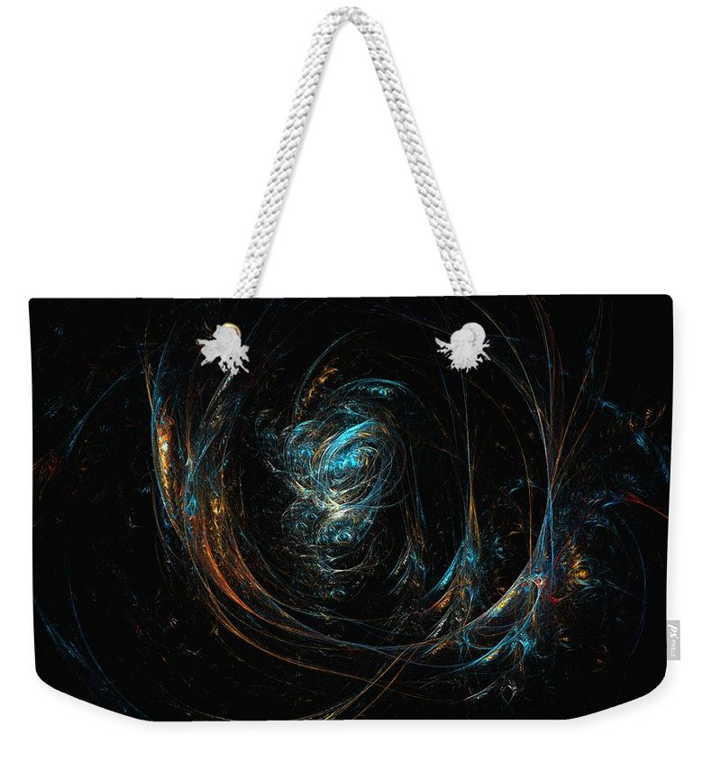 Abstract Digital Painting Weekender Tote Bag featuring the digital art Synapse by David Lane