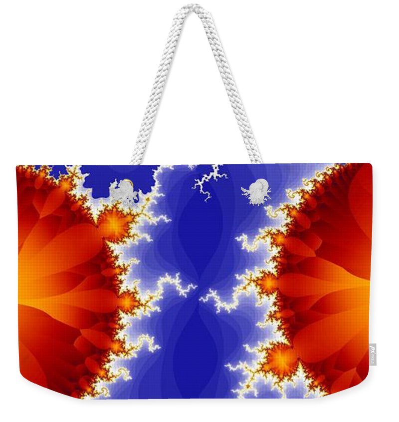 Fractal Weekender Tote Bag featuring the digital art Synaptic 5 by Ron Bissett