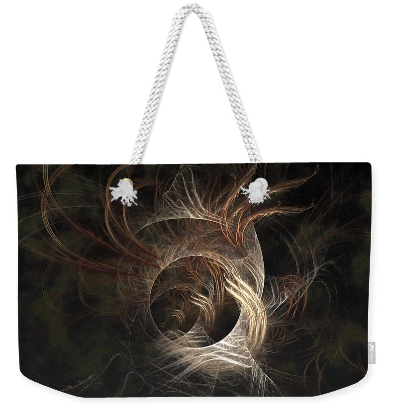 Abstract Weekender Tote Bag featuring the digital art Synaptic by Casey Kotas