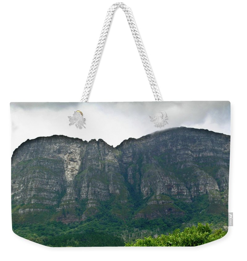 Table Weekender Tote Bag featuring the photograph Table Mountain South Africa by Douglas Barnett