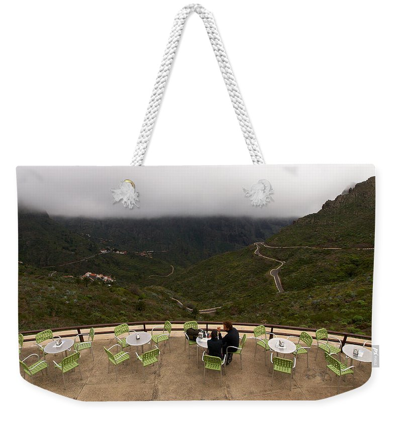 Landscape Weekender Tote Bag featuring the photograph Table With A View by Jouko Lehto