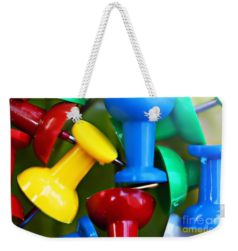 Clay Weekender Tote Bag featuring the photograph Tacky Art by Clayton Bruster