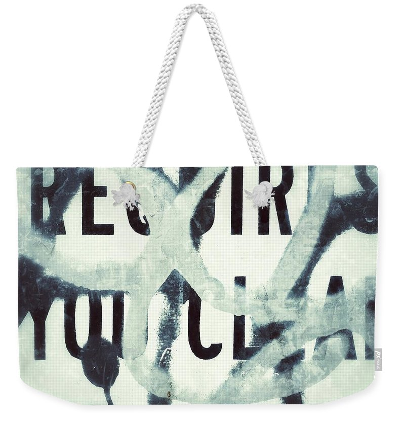 Tag Weekender Tote Bag featuring the photograph Tag by Joseph Mari