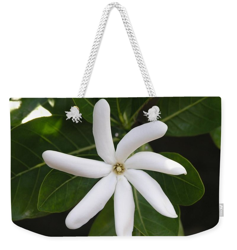 Flowers Weekender Tote Bag featuring the photograph Tahiti Tiare 1 by Mary Deal