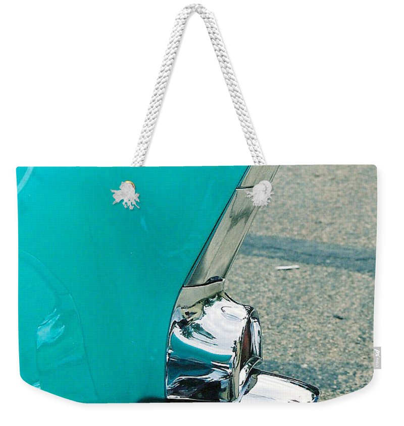 Tail Fin Weekender Tote Bag featuring the photograph Tail Fin by Lauri Novak