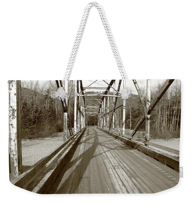 Bridge Weekender Tote Bag featuring the photograph Taiya River Bridge #1 by Kimberly VanNostrand
