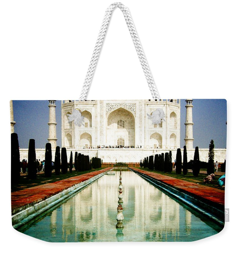 Taj Mahal Weekender Tote Bag featuring the photograph Taj Mahal by Sonal Dave