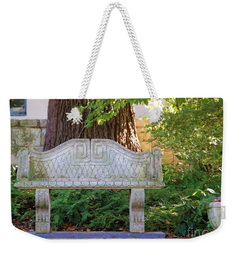 Bench Weekender Tote Bag featuring the photograph Take A Break by Debbi Granruth