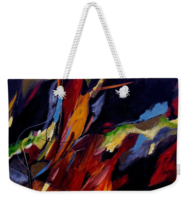 Abstract Weekender Tote Bag featuring the painting Take Action by Ruth Palmer