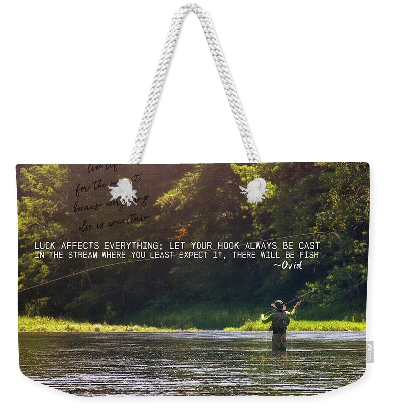 River Weekender Tote Bag featuring the photograph Take Me Home Quote by JAMART Photography