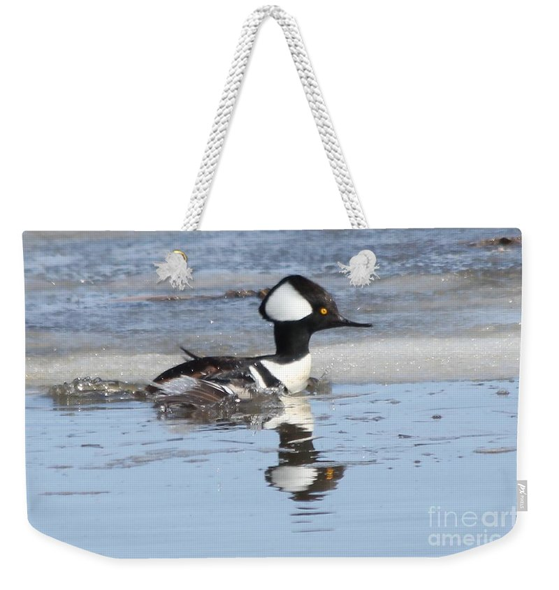 Hodded Weekender Tote Bag featuring the photograph Take Off by Lori Tordsen