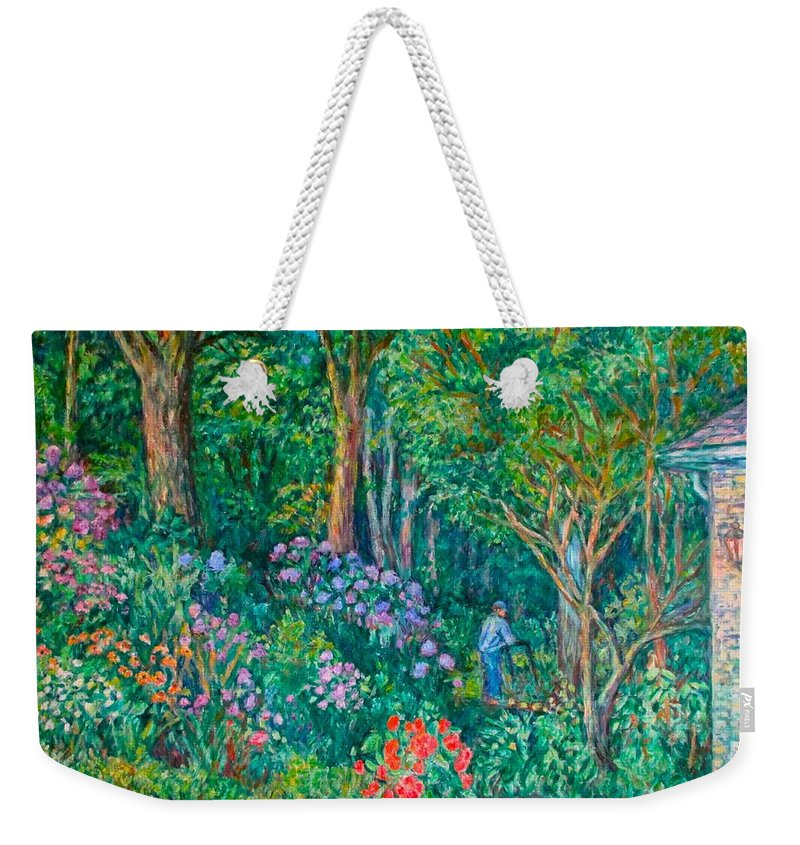 Suburban Paintings Weekender Tote Bag featuring the painting Taking a Break by Kendall Kessler