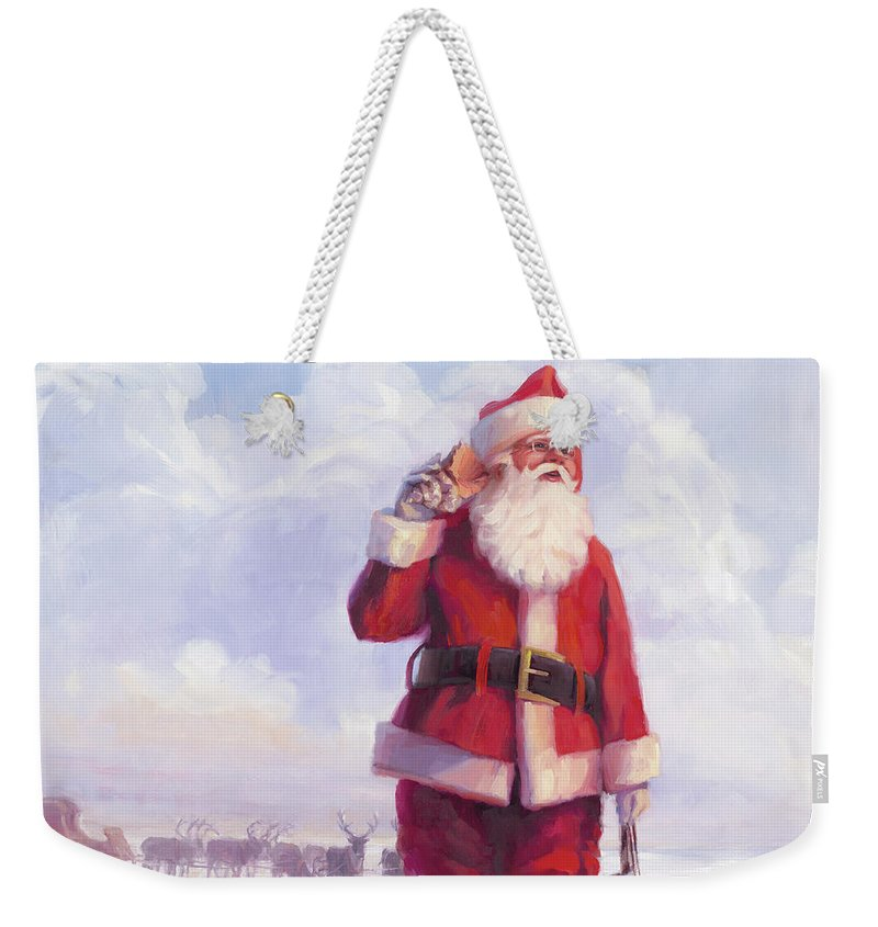 Santa Claus Paintings Weekender Tote Bags