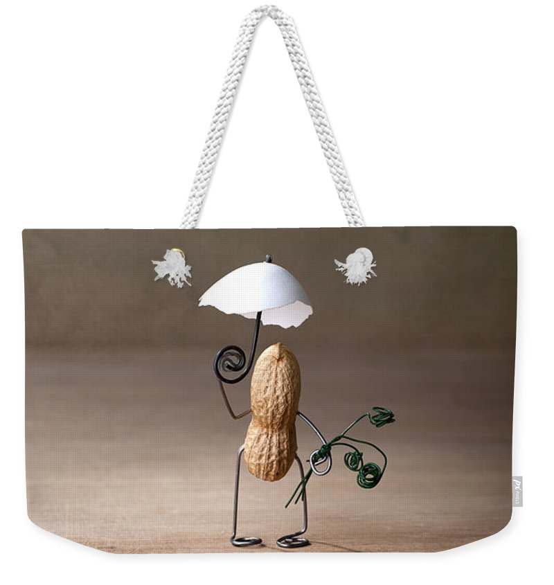 Peanut Weekender Tote Bag featuring the photograph Taking A Walk 01 by Nailia Schwarz
