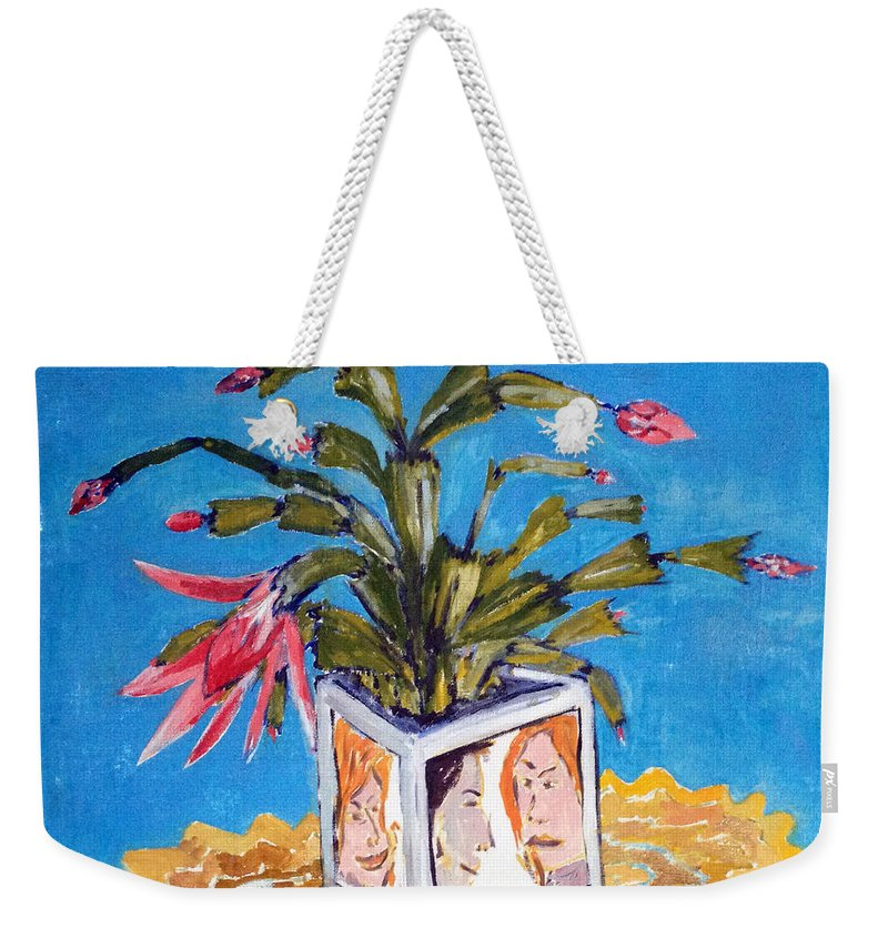 Landscape Weekender Tote Bag featuring the painting Takktera by Pablo de Choros
