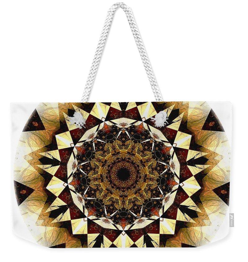 Talisman Weekender Tote Bag featuring the digital art Talisman 2408 by Marek Lutek