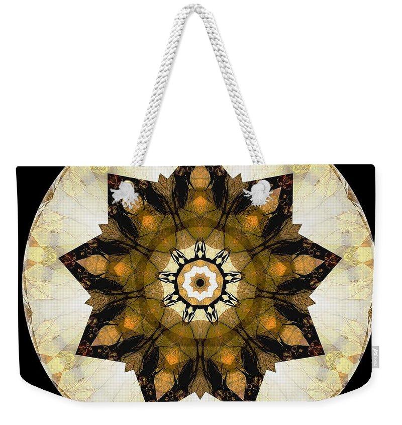 Talisman Weekender Tote Bag featuring the digital art Talisman 2411 by Marek Lutek