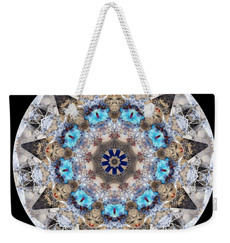Talisman Weekender Tote Bag featuring the digital art Talisman 2413 by Marek Lutek