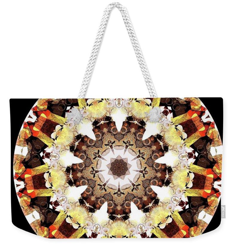 Talisman Weekender Tote Bag featuring the digital art Talisman 2419 by Marek Lutek