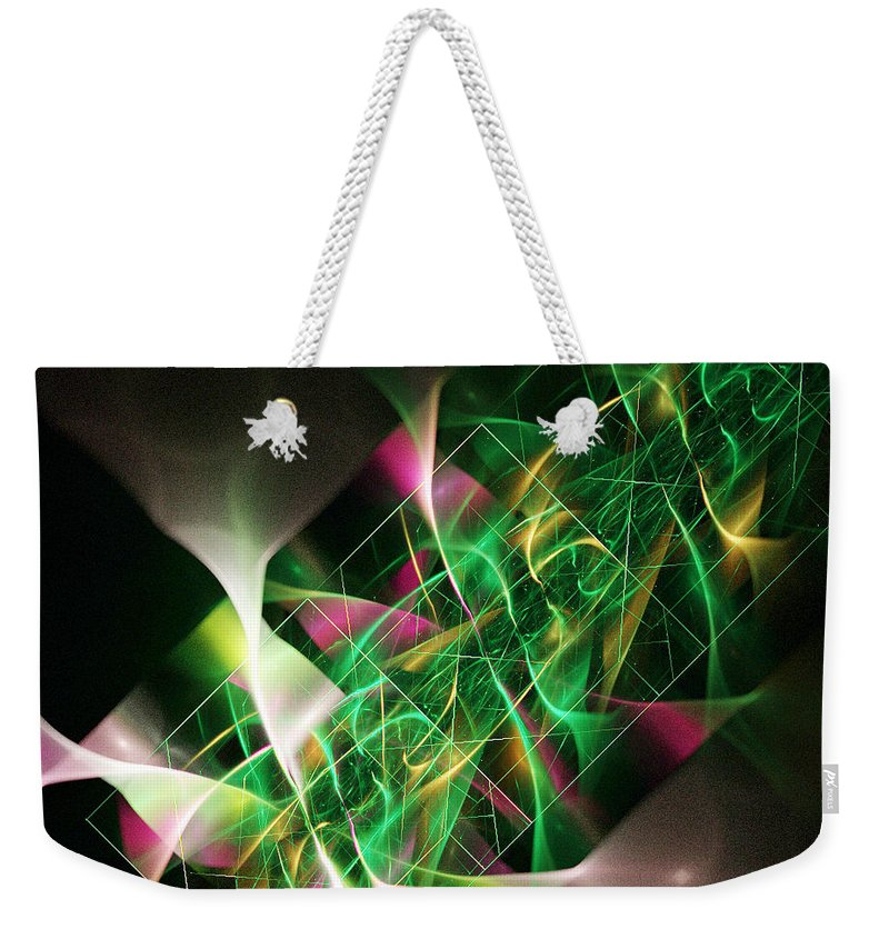 Talisman Weekender Tote Bag featuring the digital art Talisman by Dana Furi