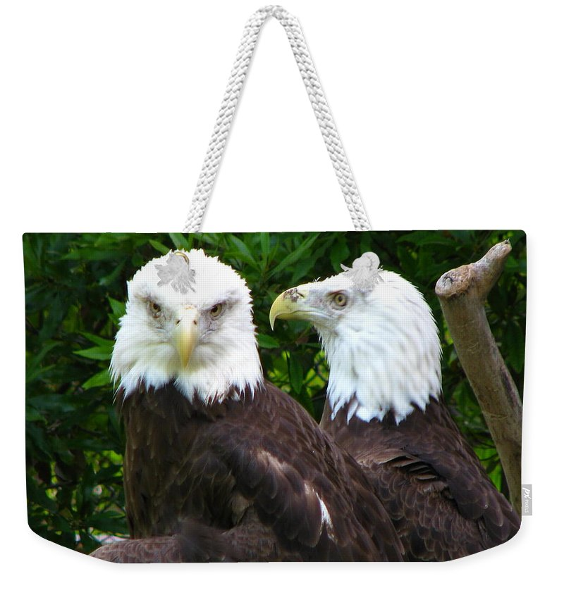 Weekender Tote Bag featuring the photograph Talking To Me by Greg Patzer