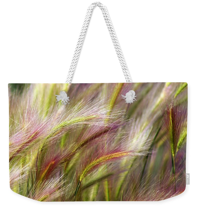 Plants Weekender Tote Bag featuring the photograph Tall Grass by Marty Koch