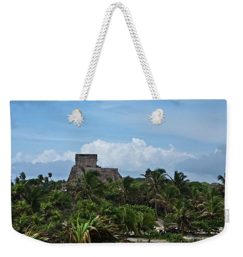 Tulum Ruins Weekender Tote Bag featuring the photograph Talum Ruins 2 by Douglas Barnett