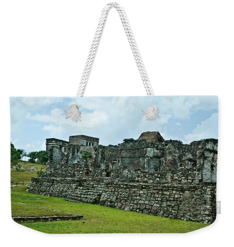 Tulum Ruins Weekender Tote Bag featuring the photograph Talum Ruins 3 by Douglas Barnett
