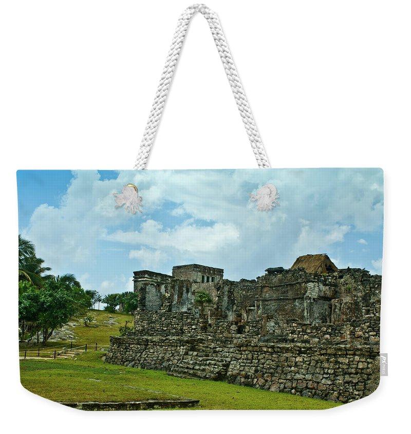 Tulum Ruins Weekender Tote Bag featuring the photograph Talum Ruins 4 by Douglas Barnett