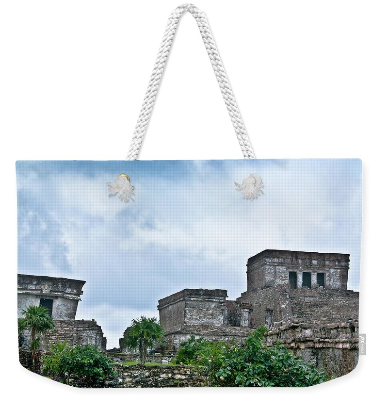 Tulum Ruins Weekender Tote Bag featuring the photograph Talum Ruins 5 by Douglas Barnett
