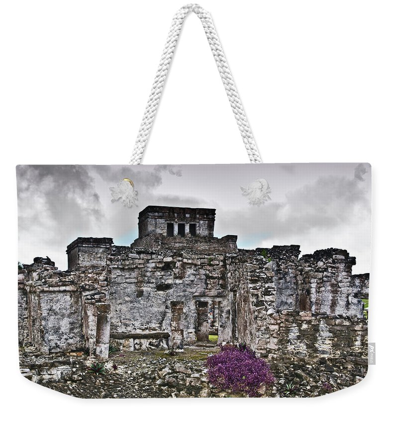 Tulum Ruins Weekender Tote Bag featuring the photograph Talum Ruins 6 by Douglas Barnett