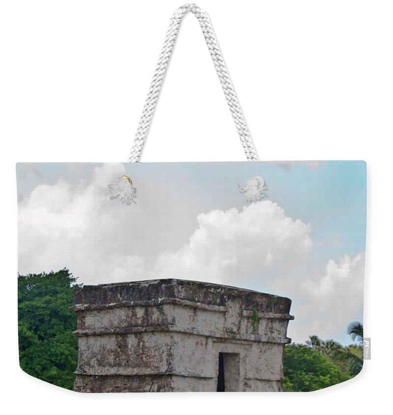 Tulum Ruins Weekender Tote Bag featuring the photograph Talum Ruins 7 by Douglas Barnett