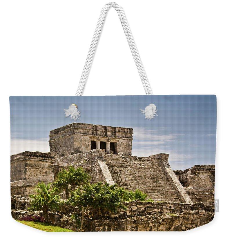 Tulum Ruins Weekender Tote Bag featuring the photograph Talum Ruins10 by Douglas Barnett
