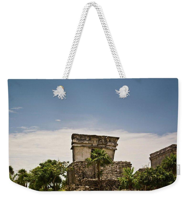 Tulum Ruins Weekender Tote Bag featuring the photograph Talum Ruins11 by Douglas Barnett