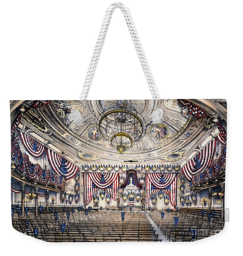 1868 Weekender Tote Bag featuring the photograph Tammany Hall, Nyc by Granger