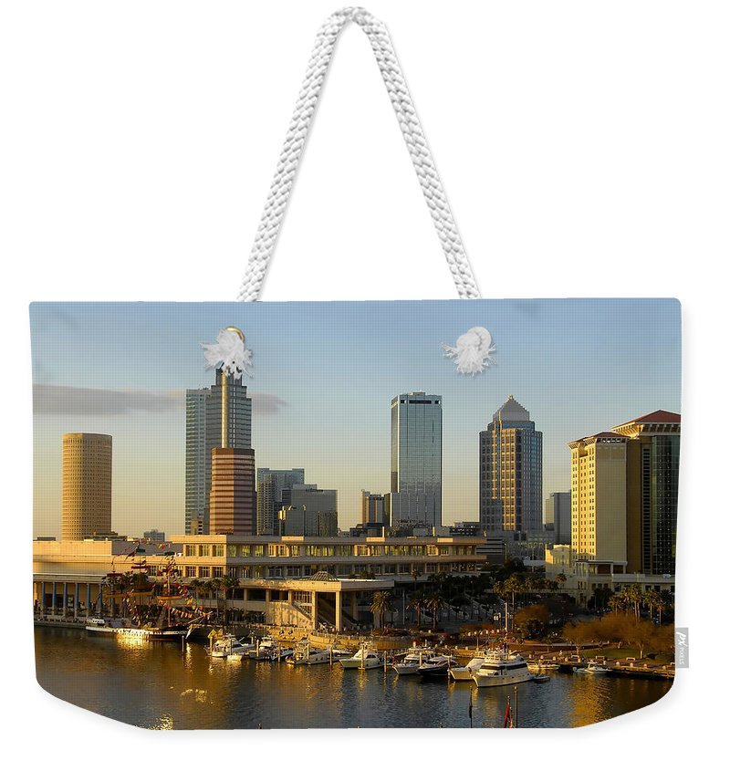 Tampa Bay Florida Weekender Tote Bag featuring the photograph Tampa Bay And Gasparilla by David Lee Thompson