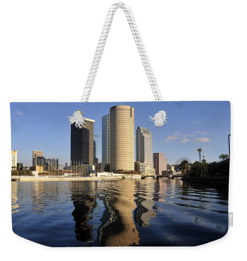 Tampa Bay Florida Weekender Tote Bag featuring the photograph Tampa Florida 2010 by David Lee Thompson