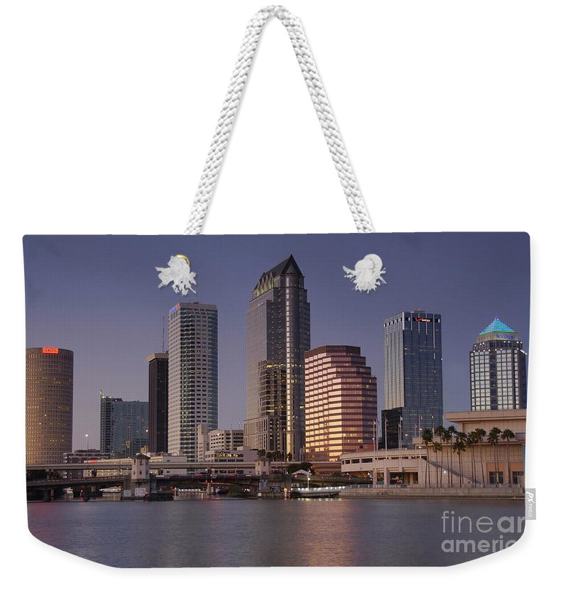 Tampa Florida Weekender Tote Bag featuring the photograph Tampa Florida by David Lee Thompson