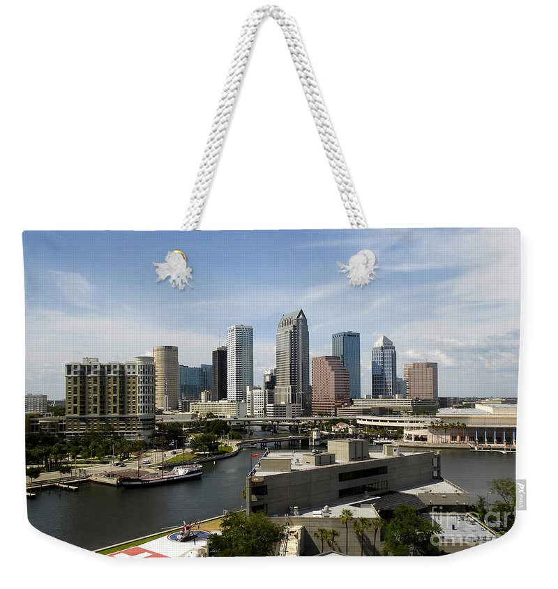 Tampa Weekender Tote Bag featuring the photograph Tampa Florida Landscape by David Lee Thompson