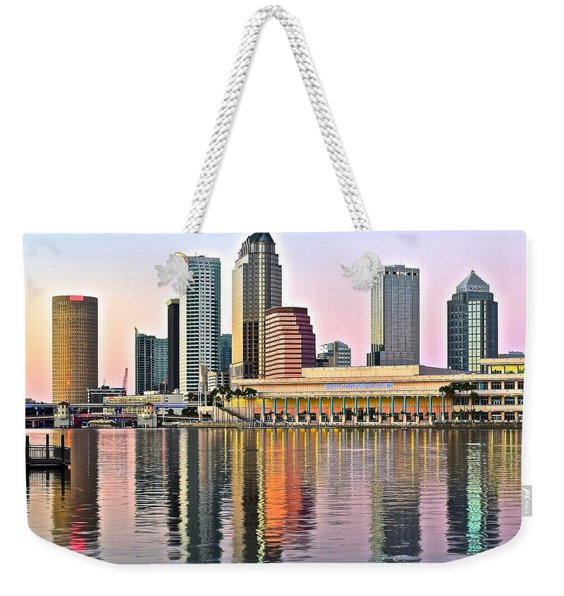 Tampa Weekender Tote Bag featuring the photograph Tampa In Vivid Color by Frozen in Time Fine Art Photography