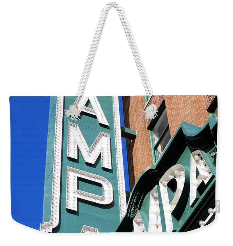 Tampa Florida Weekender Tote Bag featuring the photograph Tampa Tampa by David Lee Thompson