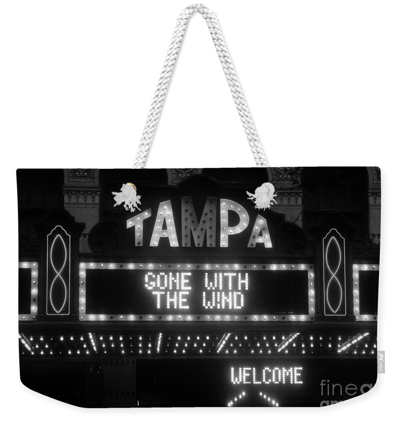 Tampa Theatre Weekender Tote Bag featuring the photograph Tampa Theatre 1939 by David Lee Thompson