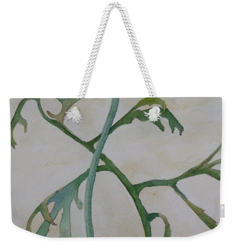 Flower Weekender Tote Bag featuring the painting Tanacetum by Ruth Kamenev